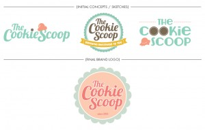 Brand Image Design by Dandyline Designs - The Cookie Scoop