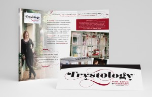 Print and Brand Image Design by Dandyline Designs - Custom Tri-Fold Brochure, Trystology
